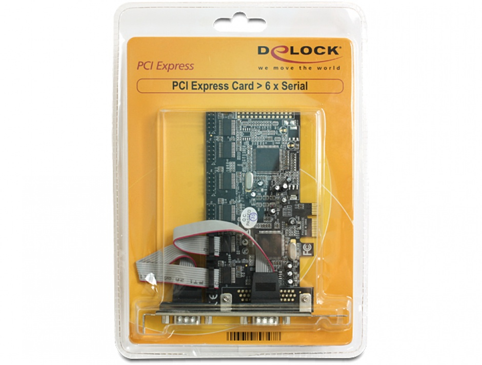 Imagine Placa PCI Express cu 6 x Serial RS232, Delock 89347