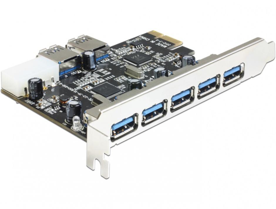 Imagine Placa PCI Express cu 5 porturi externe + 2 interne USB 3.0, Delock 89355