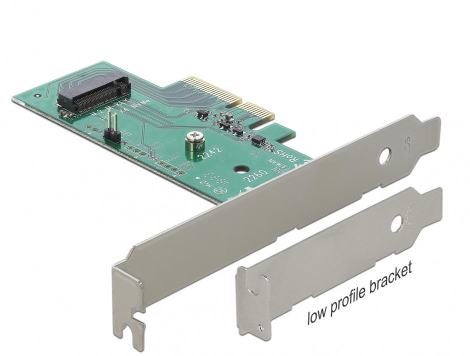 Imagine PCI Express la 1 x M.2 NGFF NVMe intern, Delock 89370