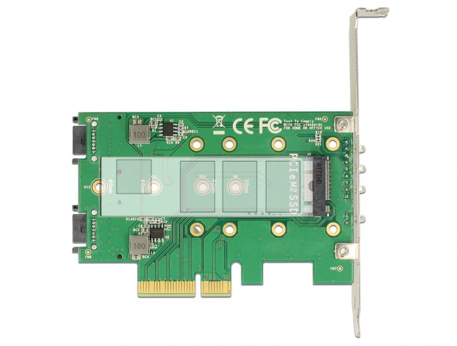 Imagine PCI Express la 3 x slot M.2 Low Profile Form Factor, Delock 89518