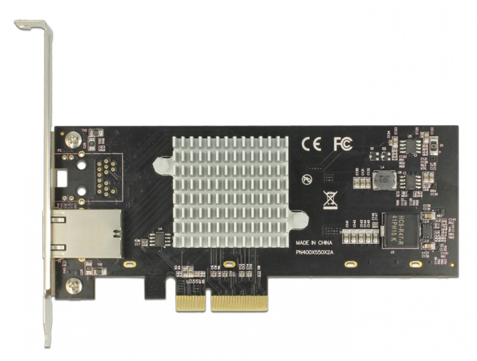 Imagine PCI Express la 1 x 10 Gigabit LAN RJ45, Delock 89521