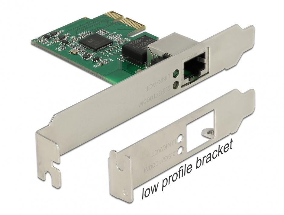 Imagine PCI Express cu un port 2.5 Gigabit LAN, Delock 89531