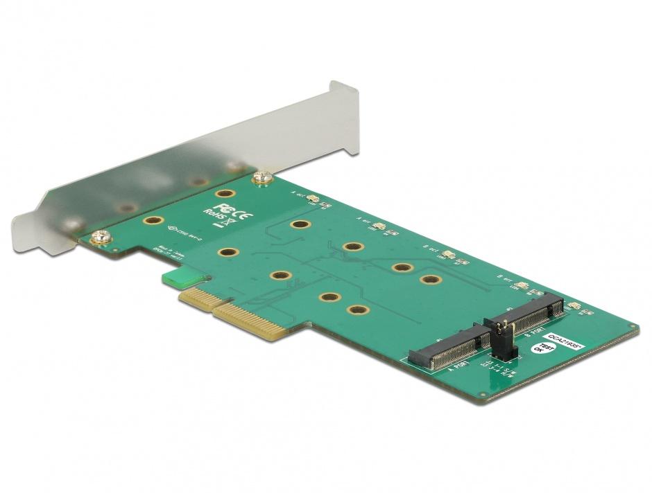 Imagine PCI Express cu 2 x M.2 Key B cu RAID, Delock 89536