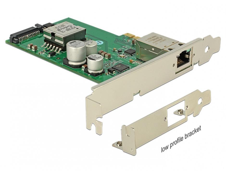 Imagine PCI Express cu 1 port Gigabit LAN PoE+ RJ45, Delock 89594