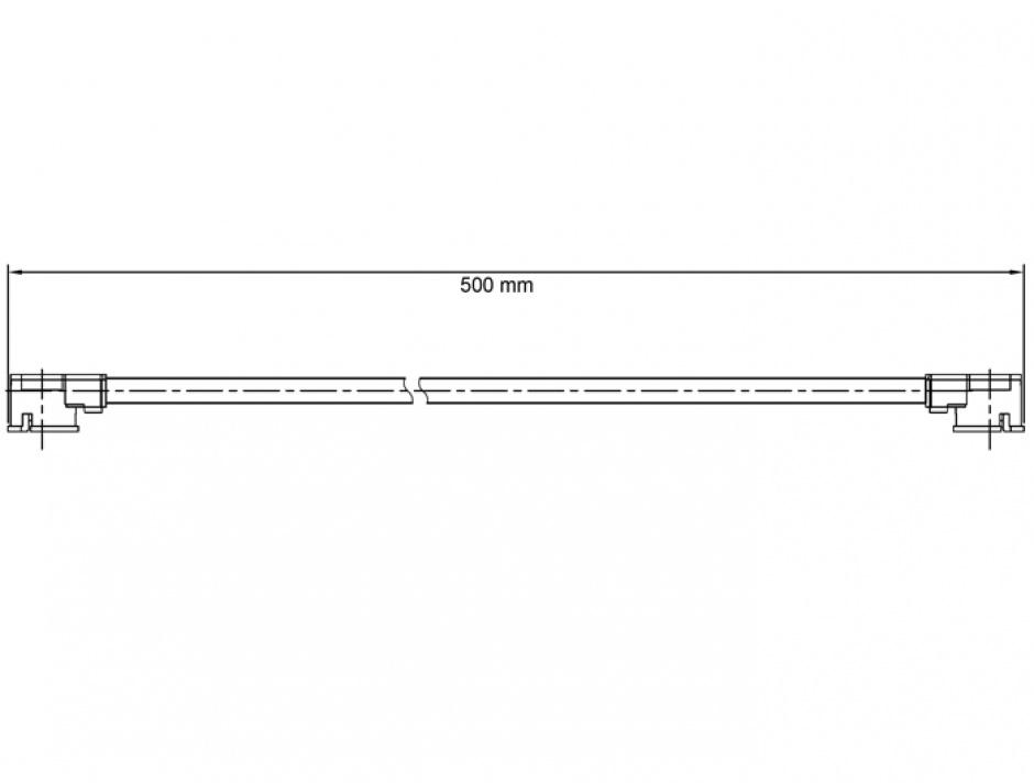 Imagine Cablu antena MHF / U.FL-LP-068 plug la MHF / U.FL-LP-068 plug 50cm 1.13, Delock 89611