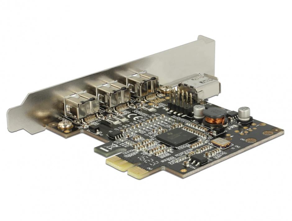 Imagine PCI Express cu 3 porturi FireWire B + 1 port FireWire A, Delock 89864