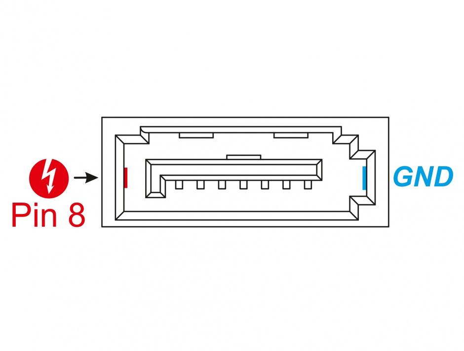Imagine Conector de alimentare SATA 6 Gb/s 8 pini tata, Delock 89886