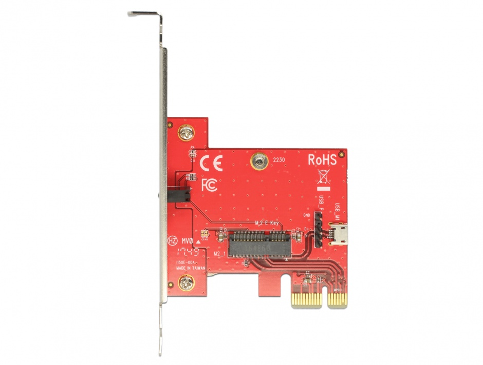 Imagine PCI Express la 1 x M.2 Key E - Low Profile Form Factor, Delock 89889
