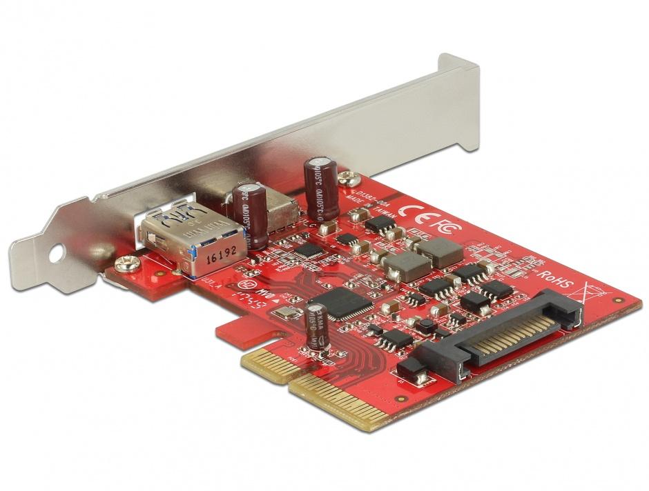 Imagine PCI Express la 1 port extern USB-C + 1 x extern USB 3.1-A Gen 2, Delock 89898