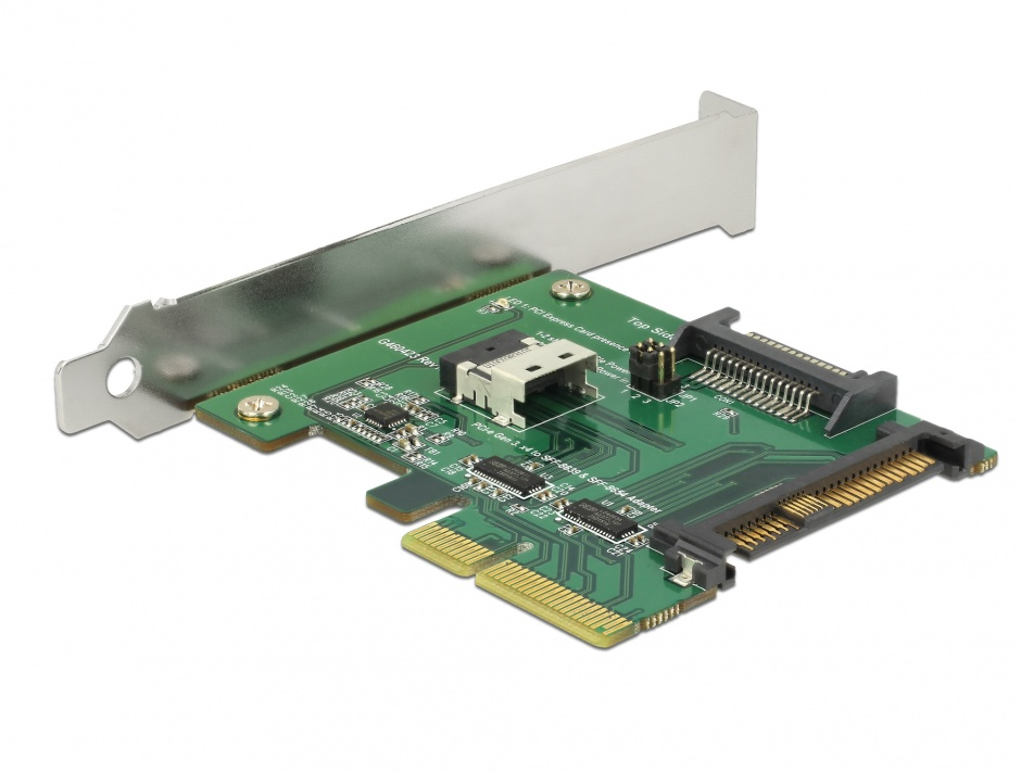 Imagine PCI Express U.2 NVMe la 1 x SFF-8654 4i + 1 x SFF-8639 LPFF, Delock 89921