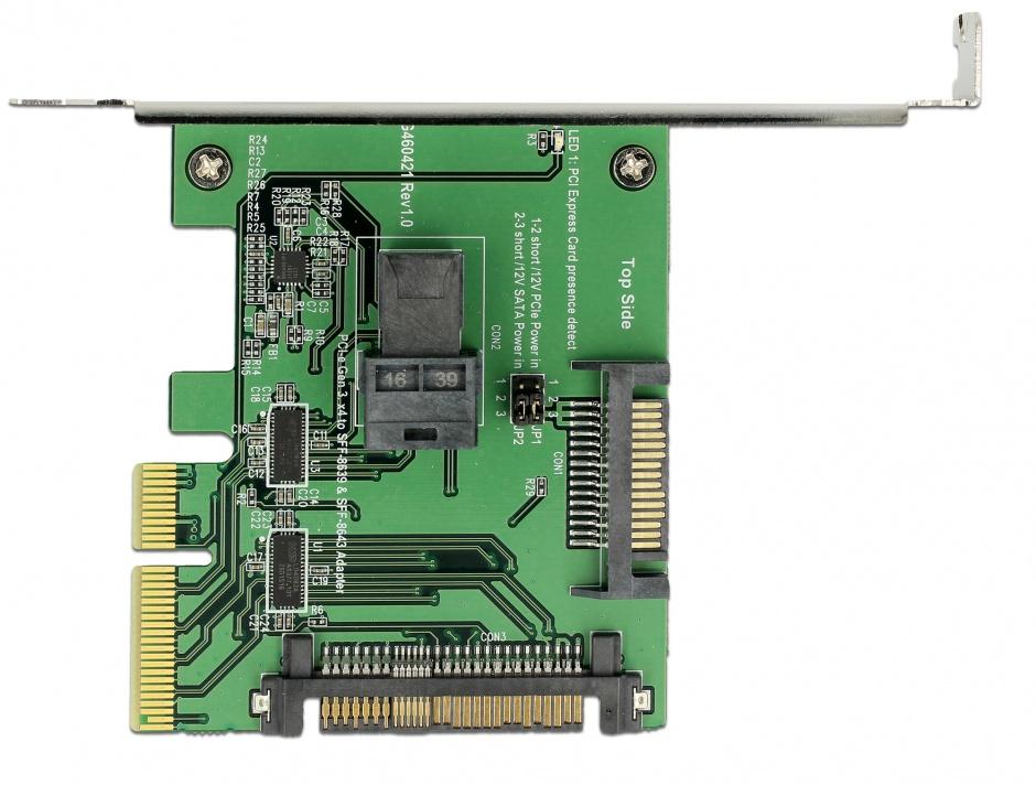 Imagine PCI Express U.2 NVMe la 1 x SFF-8643 + 1 x SFF-8639 Low Profile Form Factor, Delock 89922