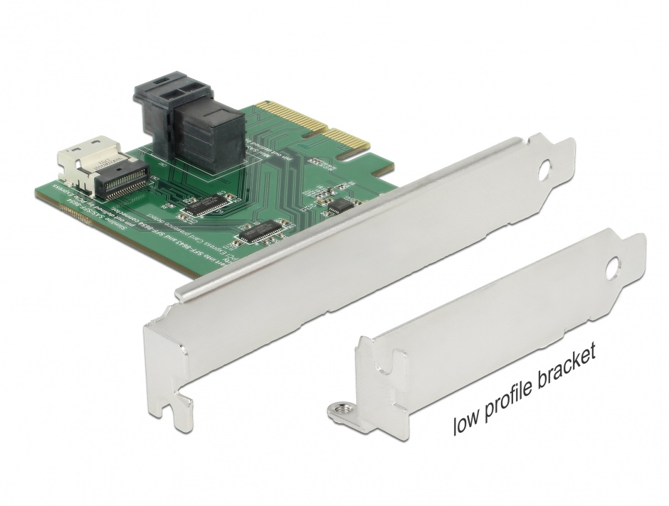 Imagine PCI Express U.2 NVMe la 1 x SFF-8654 4i + 1 x SFF-8643 LPFF, Delock 89923