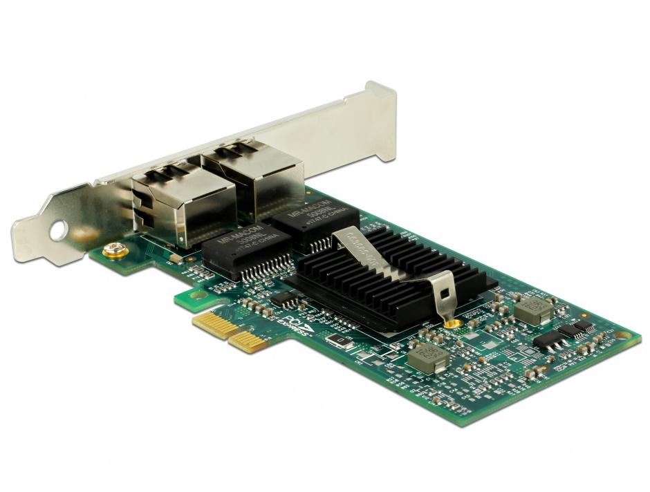 Imagine PCI Express la 2 x Gigabit LAN chipset Intel 82576, Delock 89944