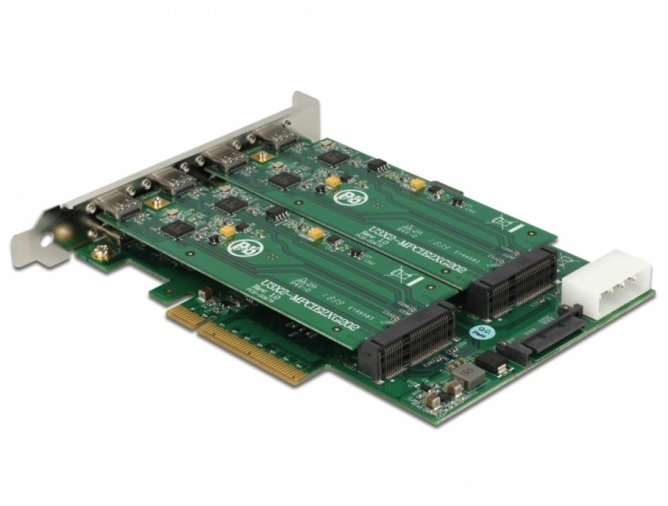 Imagine PCI Express la 8 x USB 3.1 Gen 1 tip C, Delock 90308