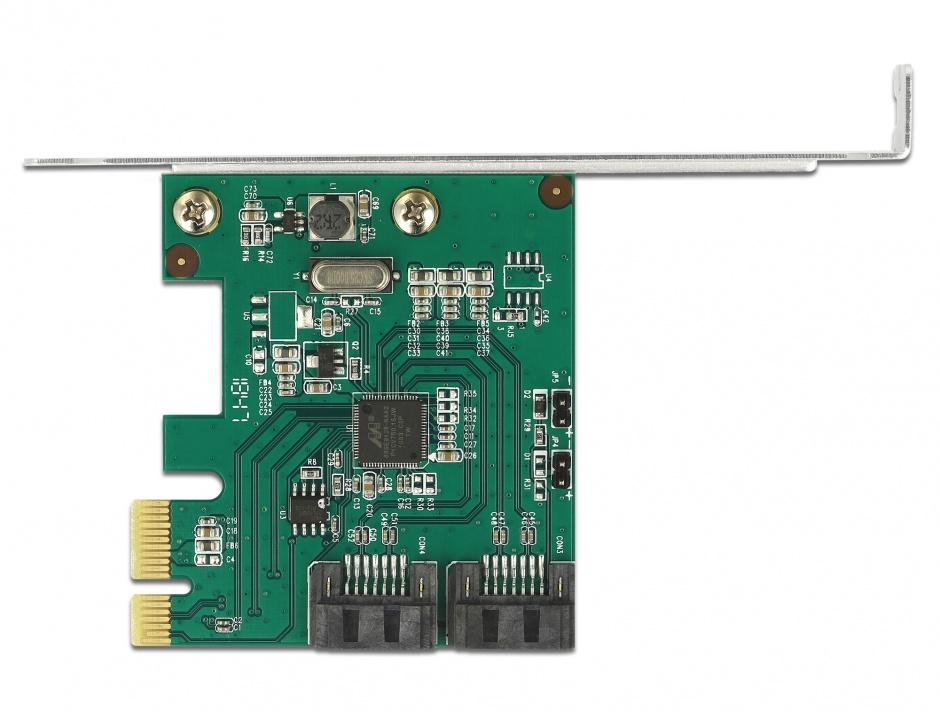 Imagine PCI Express cu 2 porturi SATA III cu RAID, Delock 90393