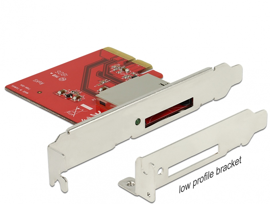 Imagine PCI Express la 1 slot CFexpress NVME, Delock 91748