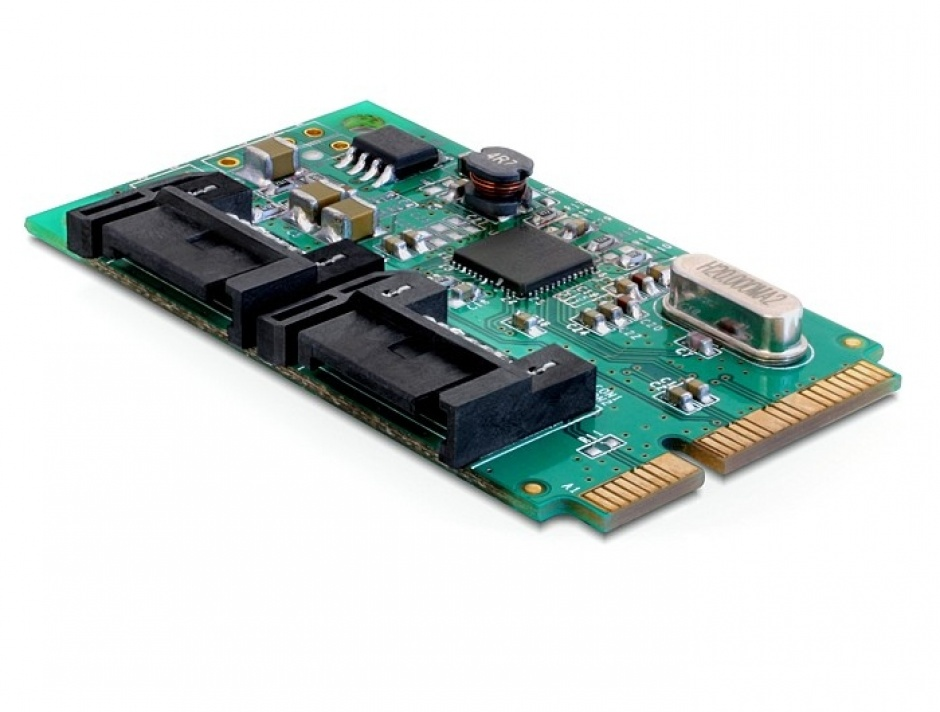 Imagine MiniPCIe I/O PCIe full size 2 x SATA 6 Gb/s, Delock 95225