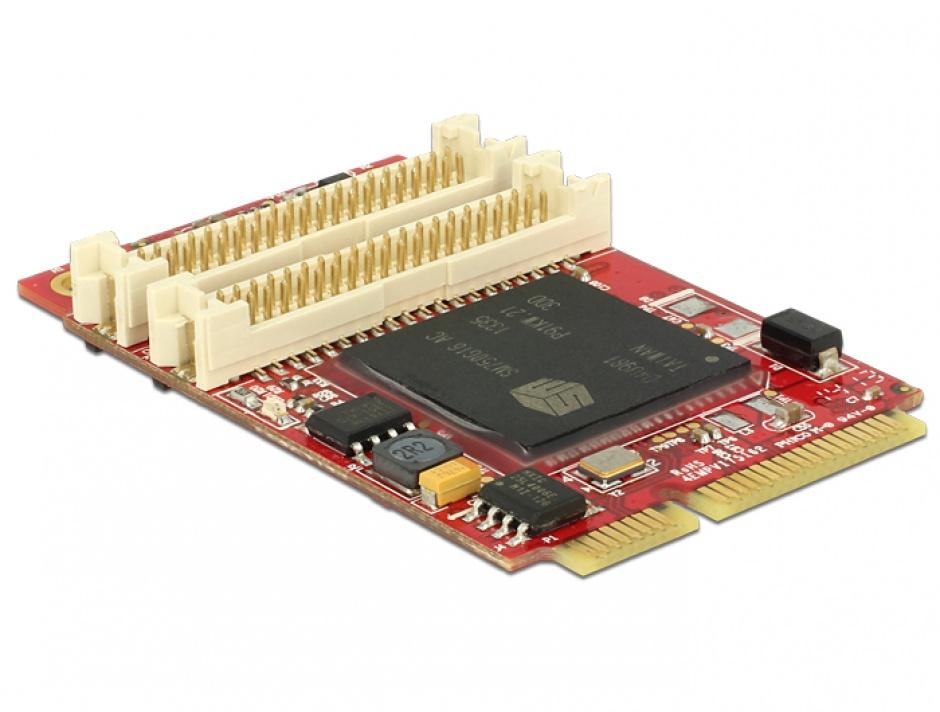 Imagine MiniPCIe I/O PCIe full size adaptor grafic pentru VGA / DVI / HDMI -40 °C ~ 85 °C, Delock 95255