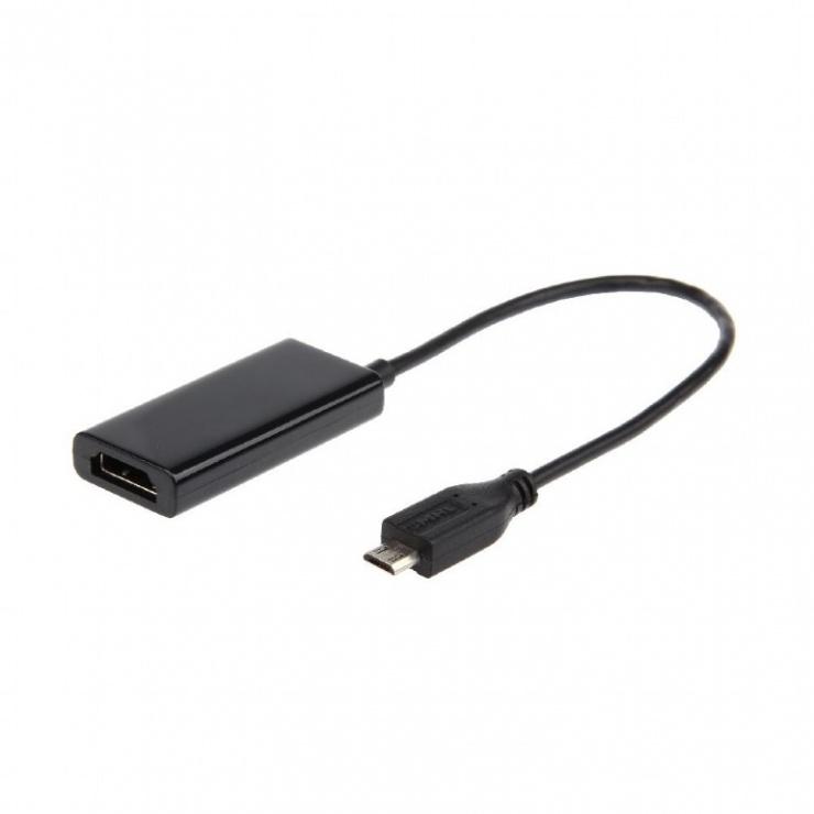 Imagine Adaptor micro USB MHL la HDMI T-M 5 pini, Gembird A-MHL-002