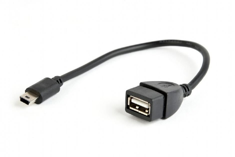 Imagine Cablu mini USB la USB 2.0 T-M OTG 0.15m, Gembird A-OTG-AFBM-002