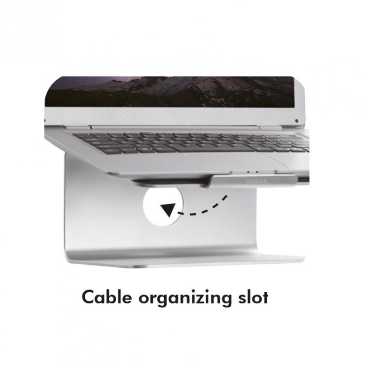 """Imagine Stand din aluminiu pentru notebook 11-17"""", Logilink AA0104"""