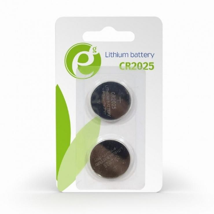 Imagine Set 2 buc baterie CR2025 3V Litiu, Energenie EG-BA-CR2025-01