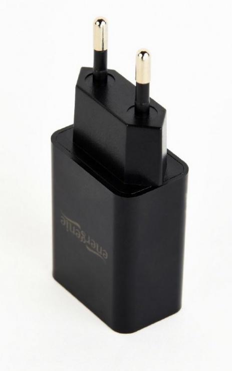 Imagine Incarcator priza 1 x USB 2.1A Negru, Gembird EG-UC2A-03