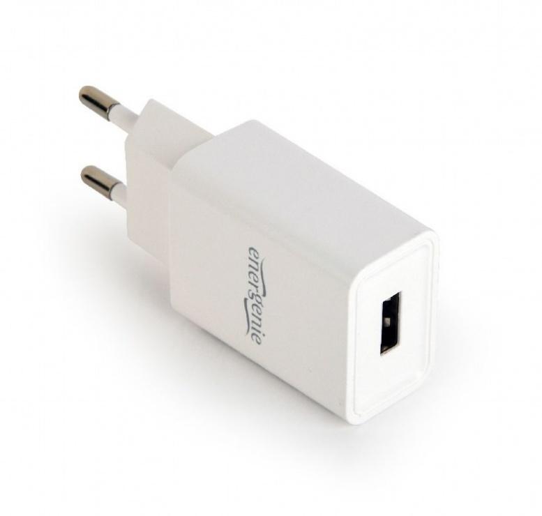 Imagine Incarcator priza 1 x USB 2.1A Alb, Energenie EG-UC2A-03-W