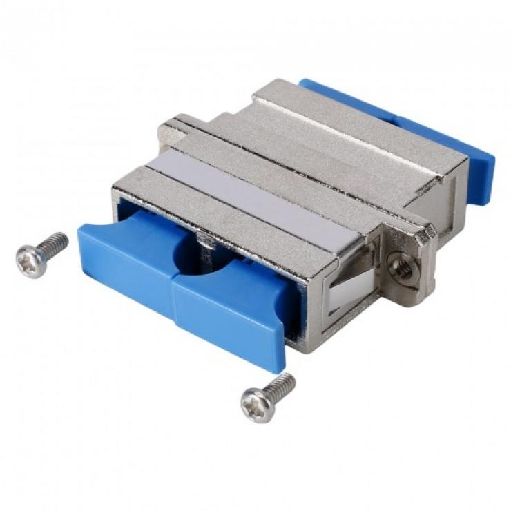 Imagine Adaptor metalic fibra optica SC - SC Duplex, GF-SC2SC2-FF