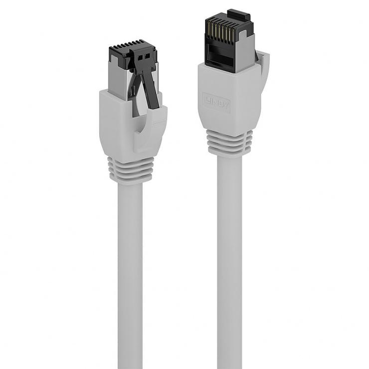 Imagine Cablu de retea RJ45 cat. 8.1 LSOH 0.5m Gri, Lindy L47431