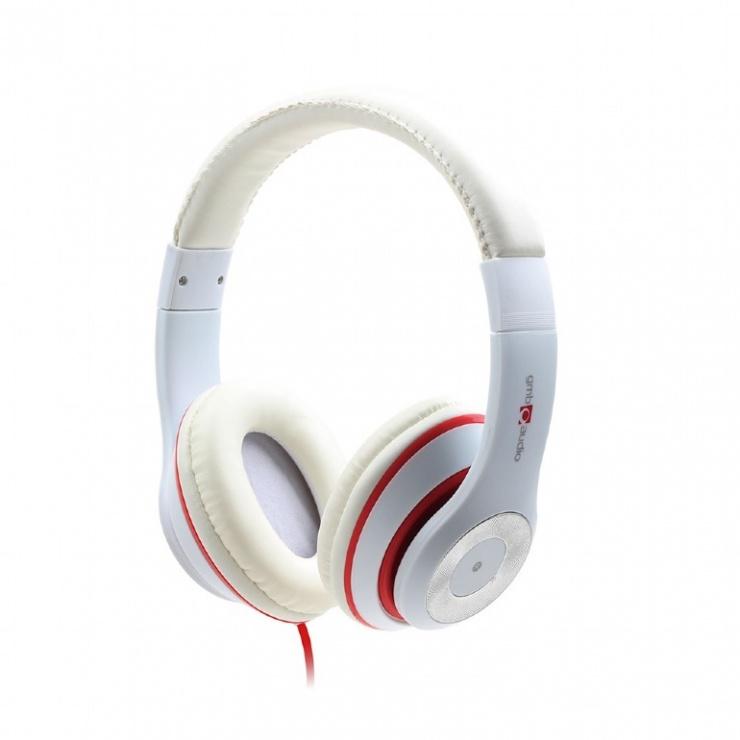 Imagine Casti audio externe Los Angeles jack stereo Alb, Gembird MHS-LAX-W