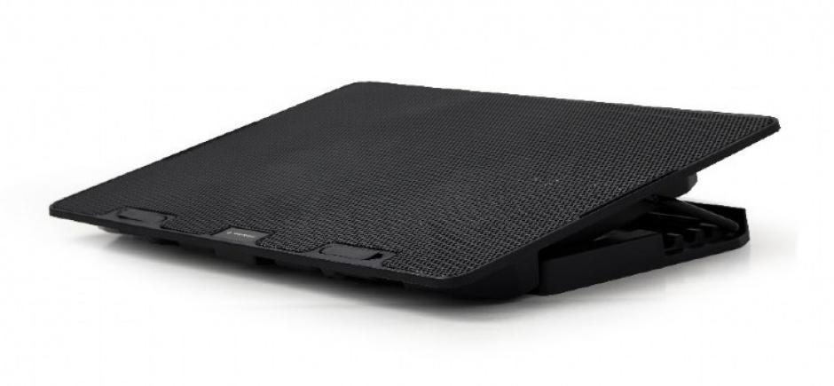 """Imagine Stand metalic notebook 15.6"""" 2 x fan 12.5cm Negru, Gembird NBS-2F15-02"""