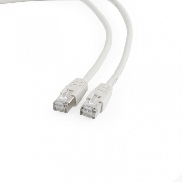 Imagine Cablu de retea RJ45 FTP cat6 0.25m Alb, Gembird PP6-0.25M/W