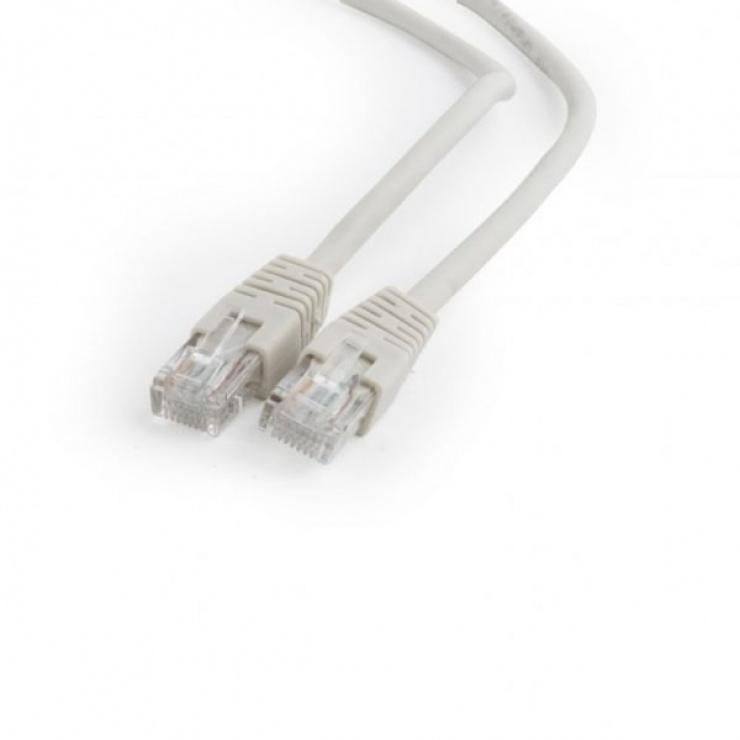 Imagine Cablu de retea RJ45 0.25m cat 6 UTP Gri, Gembird PP6U-0.25M