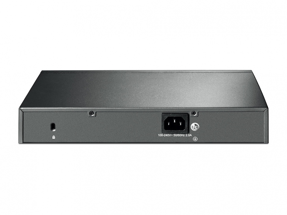 Imagine Switch JetStream 8 porturi Gigabit Smart PoE+ cu 2 SFP, TP-LINK T1500G-10MPS
