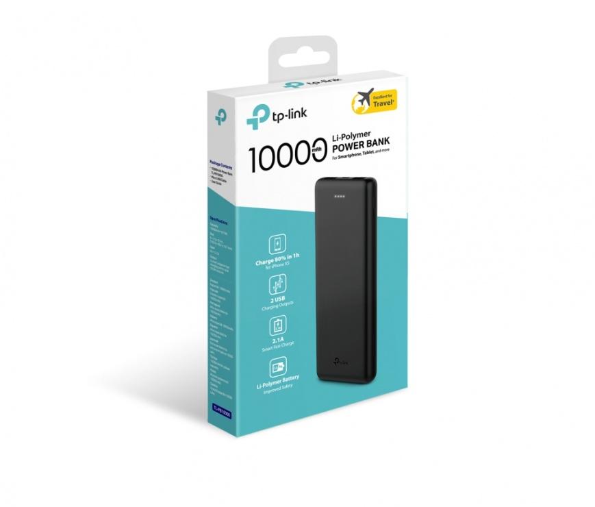Imagine Power Bank 10000mAh, TP-LINK TL-PB10000 (include timbru verde 0.5 lei)