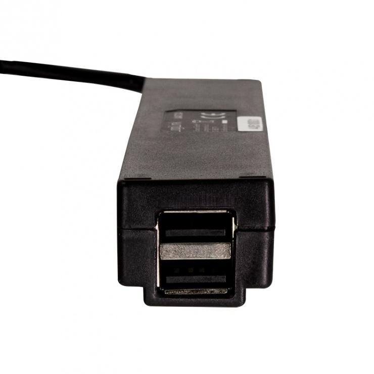 Imagine HUB USB cu 7 porturi USB 2.0 alimentare 3.5A Negru, Logilink UA0124