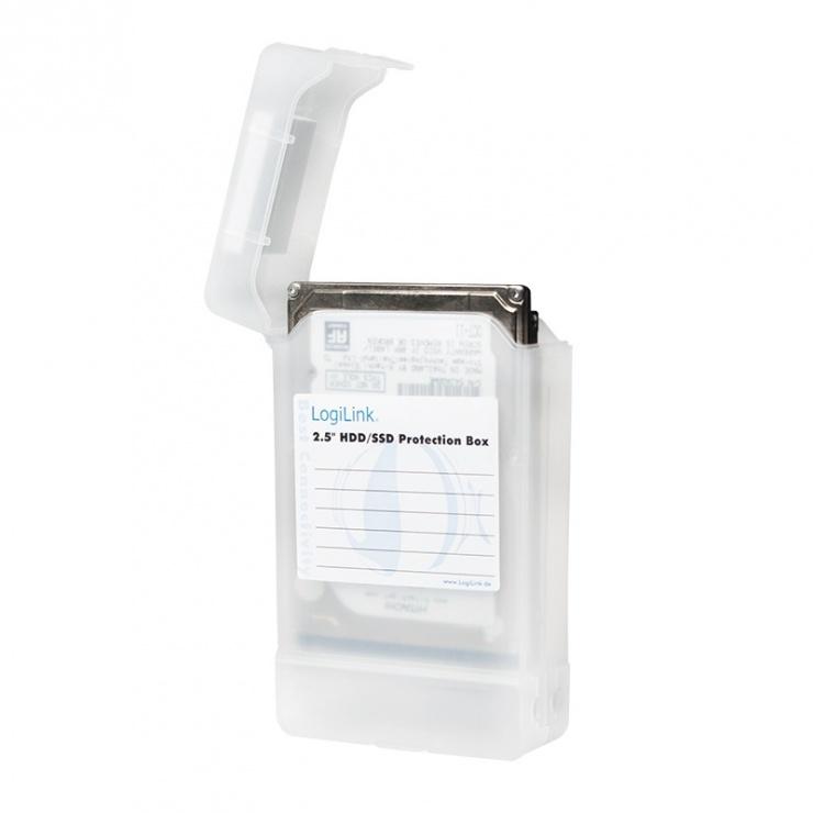 """Imagine Carcasa de protectie pentru 2 x HDD 2.5"""" transparent, Logilink UA0277"""