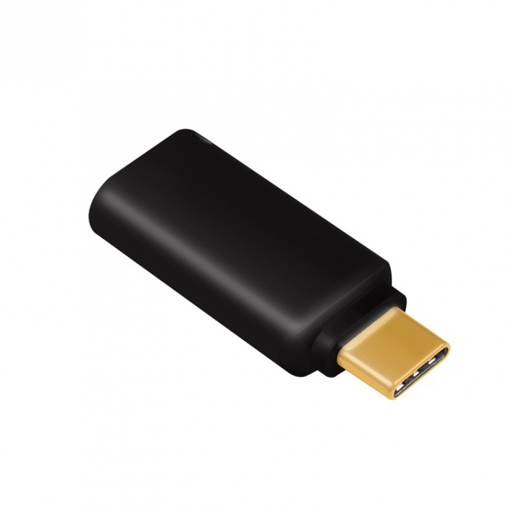 Imagine Adaptor audio USB-C la jack 3.5mm DAC T-M, Logilink UA0356