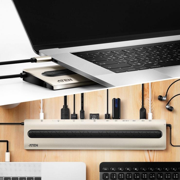 Imagine Docking station USB-CMultiport PD 85W, ATEN UH3237