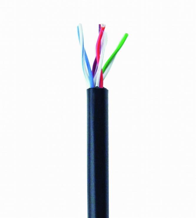 Imagine Rola cablu de retea de exterior CAT5e UTP fir solid 305m Negru, Gembird UPC-5051E-SO-OUT