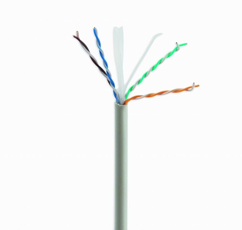 Imagine  Cablu retea UTP cat. 6 AWG24 cupru solid 305m, GEMBIRD UPC-6004SE-SO