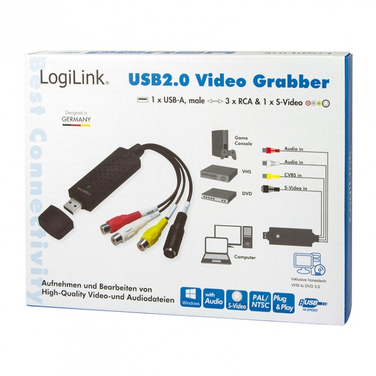 Imagine Placa de captura externa USB, Logilink VG0001A
