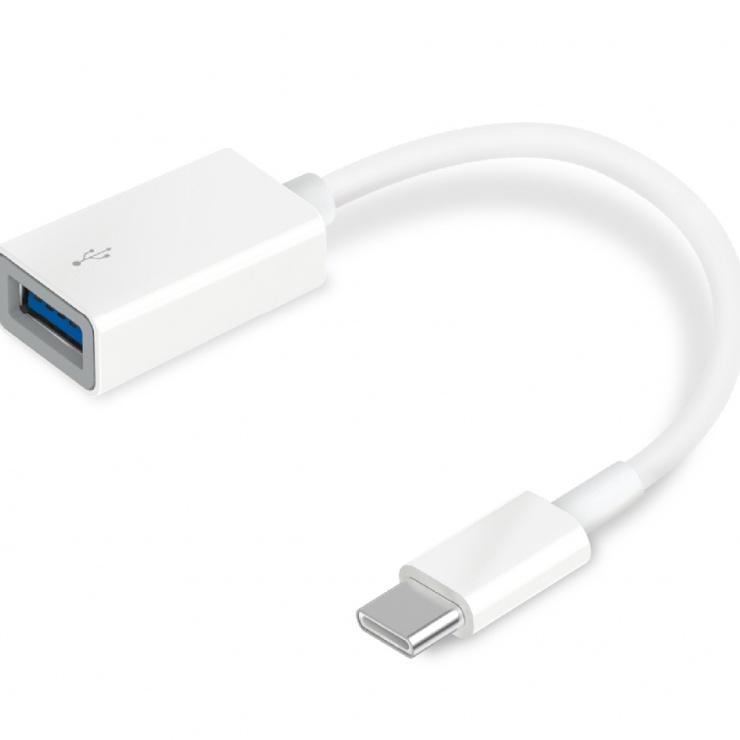 Imagine Adaptor USB 3.0 tip C la USB-A 12cm Alb, TP-LINK UC400