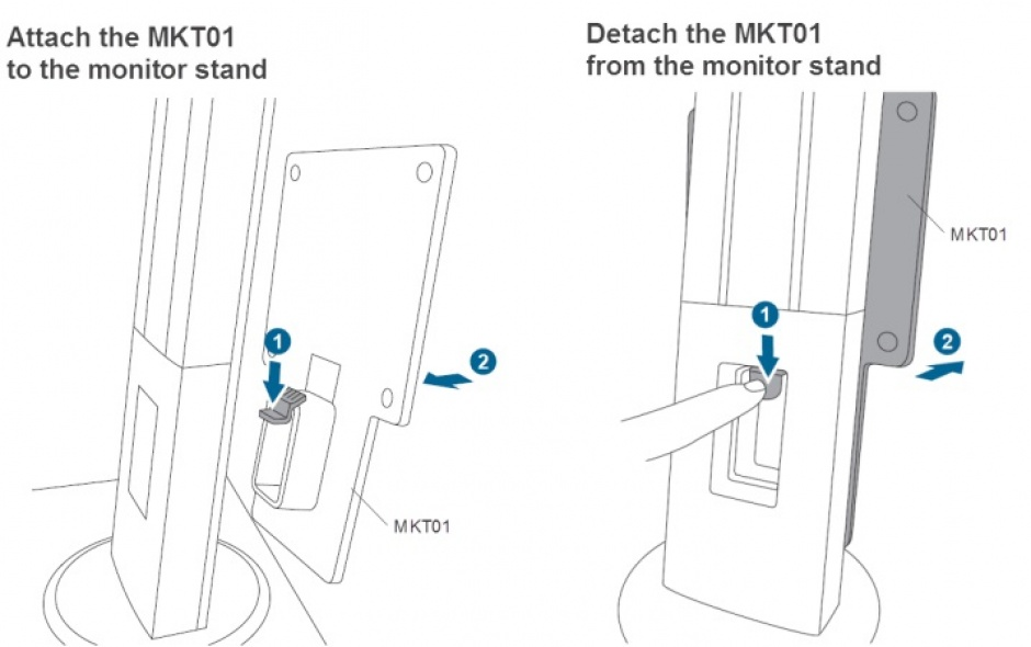 Imagine Suport monitor ASUS pentru montare mini PC, MKT01