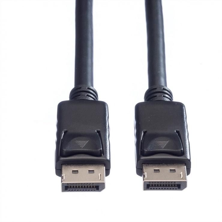 Imagine Cablu Displayport 4K@60Hz T-T TPE 3m Negru, Roline 11.04.5983