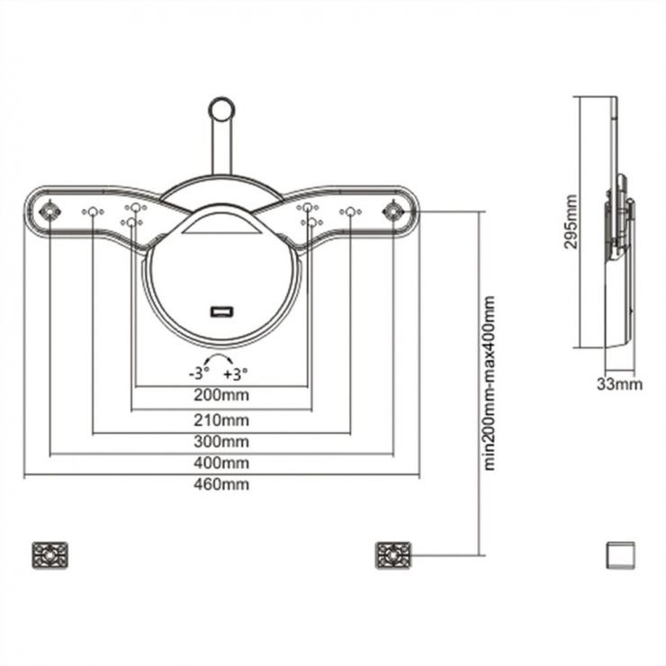Imagine Suport perete pentru LCD/Plasma TV Low Profile Argintiu, Value 17.99.1154