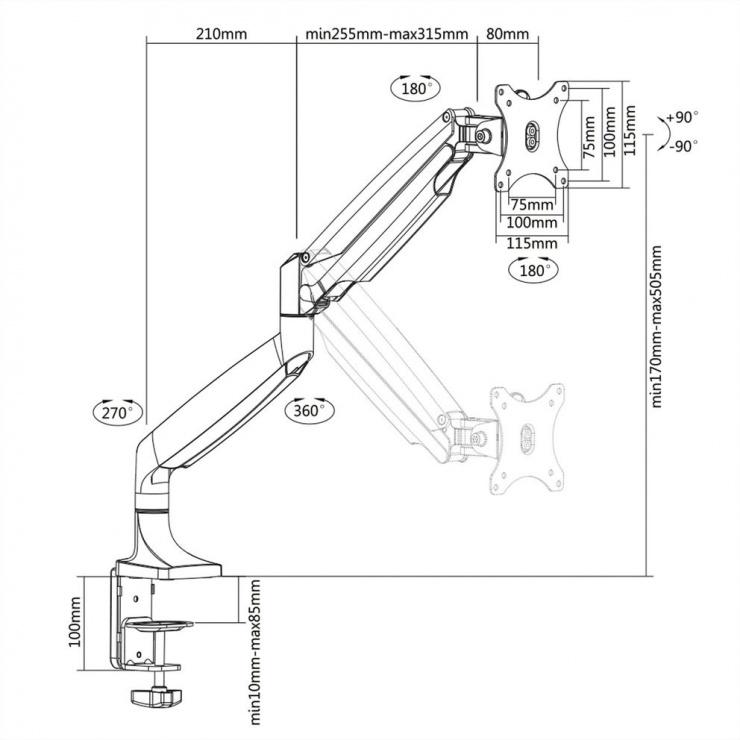 Imagine Suport masa pentru monitor, Value 17.99.1145