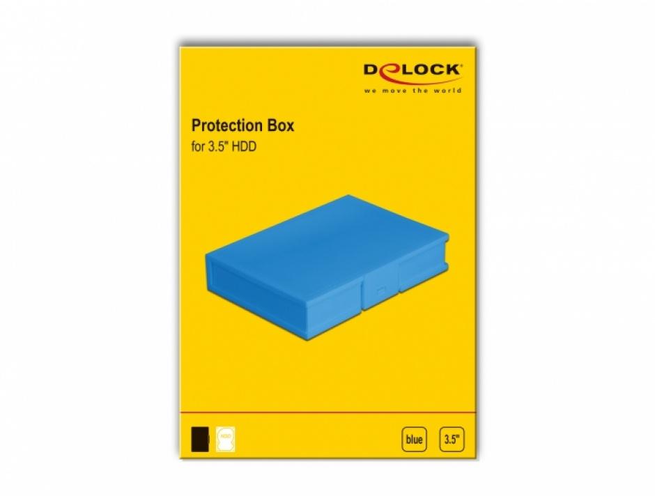 """Imagine Carcasa de protectie pentru HDD / SSD 3.5"""" Albastru, Delock 18373"""