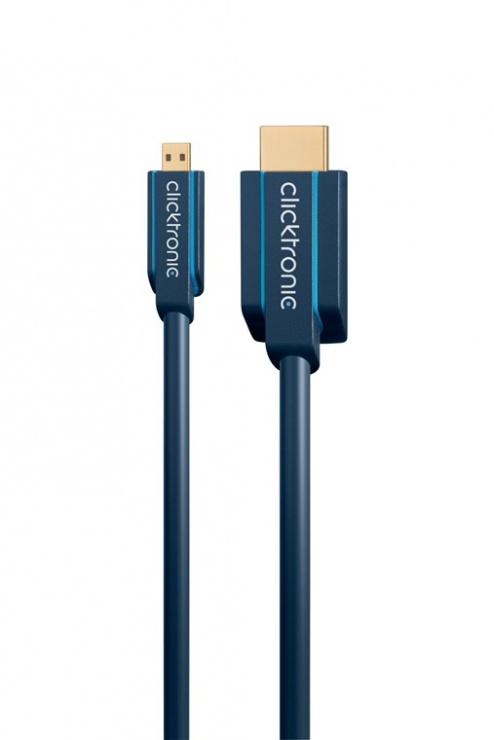 Imagine Cablu HDMI la micro HDMI-D T-T 3m, Clicktronic CLICK70329